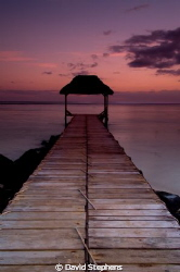 Jetty at Bel Ombre, Mauritius by David Stephens 